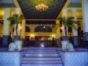 Panoramic hotel entrance view