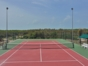 Tennis court view