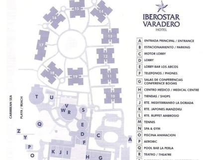 Iberostar Varadero  Hotel Map