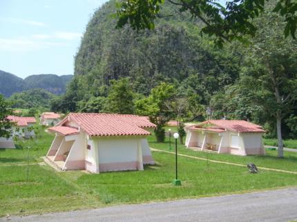 Panoramic camping view