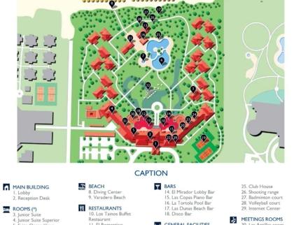 Meliá Las Antillas Hotel Map