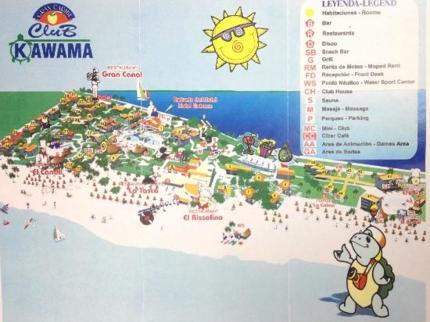 Club Kawama Hotel Map