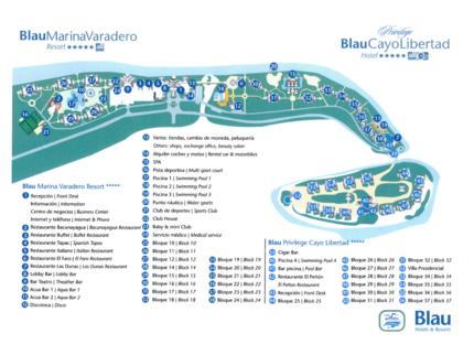 Blau Marina Resort Hotel Map