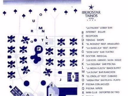Iberostar Tainos Hotel Map