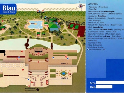 Blau Varadero Hotel Map
