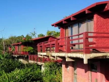 Panoramic motel view
