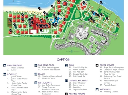 Paradisus Varadero Hotel Map