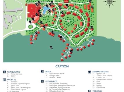 Meliá Cayo Coco Hotel Map